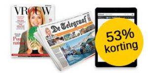telegraaf digitaal aanbieding zaterdag